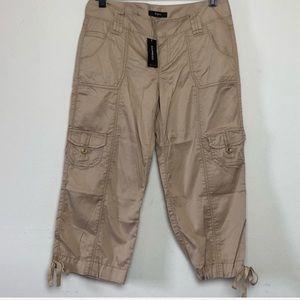 Express Cargo Crop Tan Pant Capris Size 2